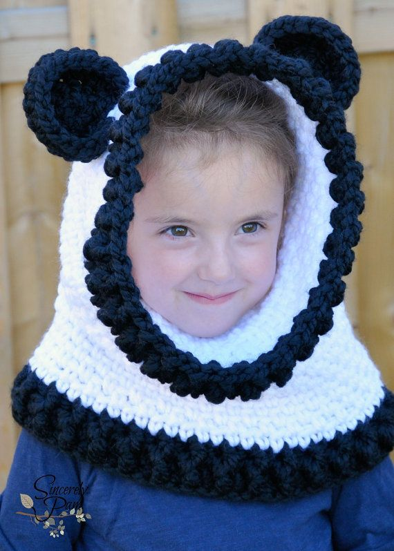 Un\'bear\'ably Cute Hooded Cowl Crochet Pattern pdf (Scoodie ...