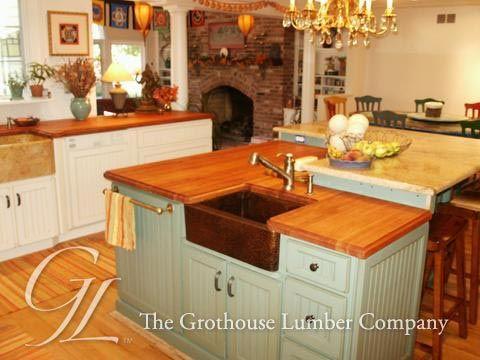 Custom American Cherry Wood Countertop In Princeton New Jersey Wood Countertops Countertops Cherry Wood