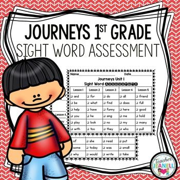 This Journeys First Grade Sight Word Assessment Pack Is A Great Way
