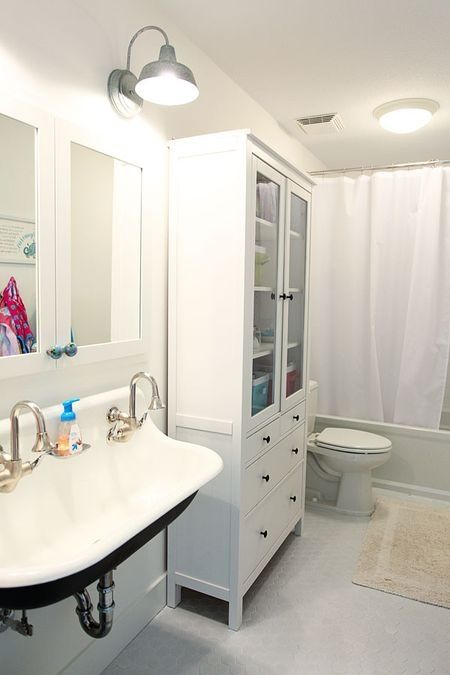 love this kohler sink and ikea cabinet bathrooms | Home. | Pinterest ...