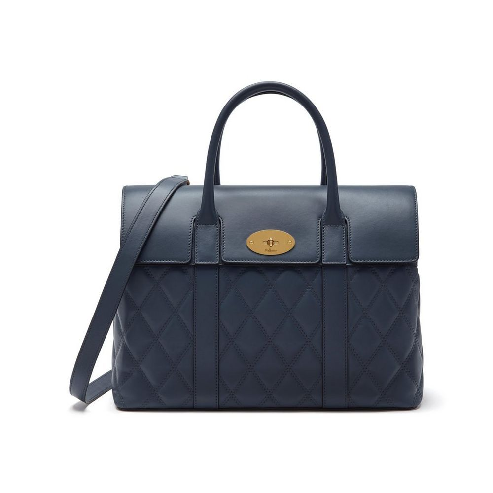 Shop the Bayswater with Strap in Elephant Quilted Silky Calf Leather at  Mulberry.com. 1803447ef061b
