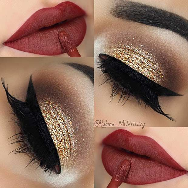 23 christmas makeup ideas to copy this season makeup pinterest