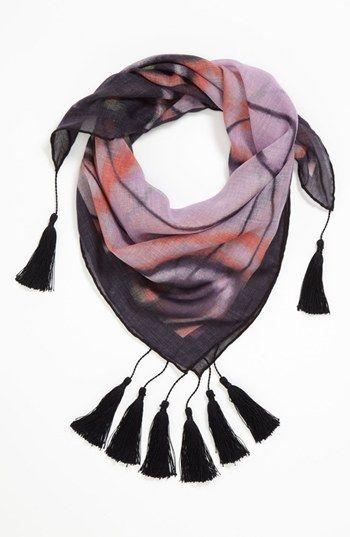 Hinge® 'Gossamer Wings' Tasseled Scarf available at #Nordstrom