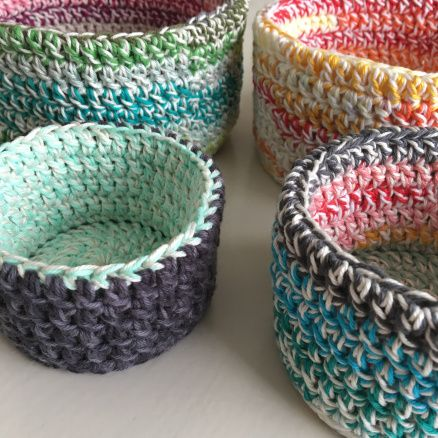 Double Double Korgar/Baskets   Free pattern, Crochet and Patterns