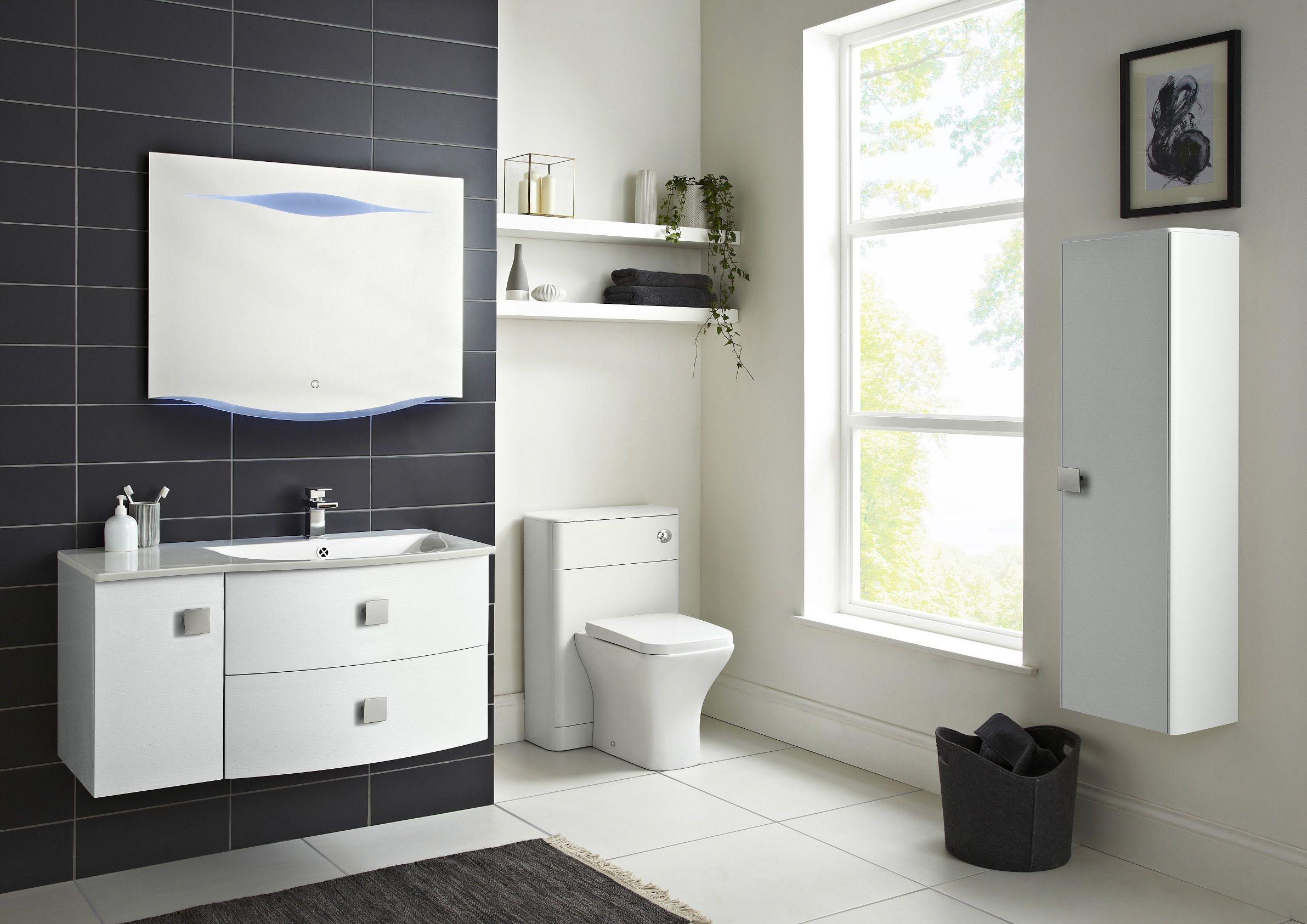 gloss gloss modular bathroom furniture collection. Sarenna White Gloss 1000mm Wall Hung Cabinet Design Modular Bathroom Furniture Collection G