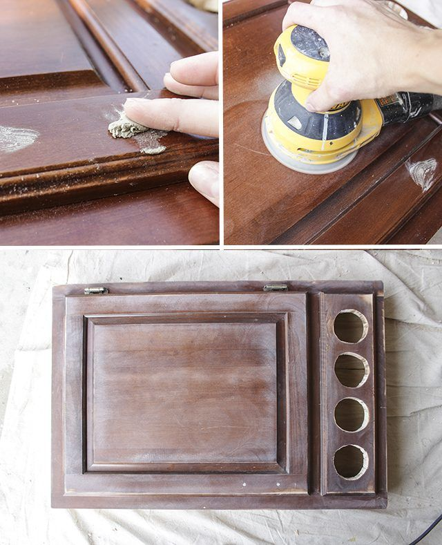 How to Build a Desk Out of Cabinets | eHow | Lap desk diy ...