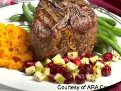 Awesome Valentine Dinner for Two - Rosemary Grilled Lamb Loin Chops with Cranberry and Peppered Apple Relish picture #Romantic #Dinner #Recipes