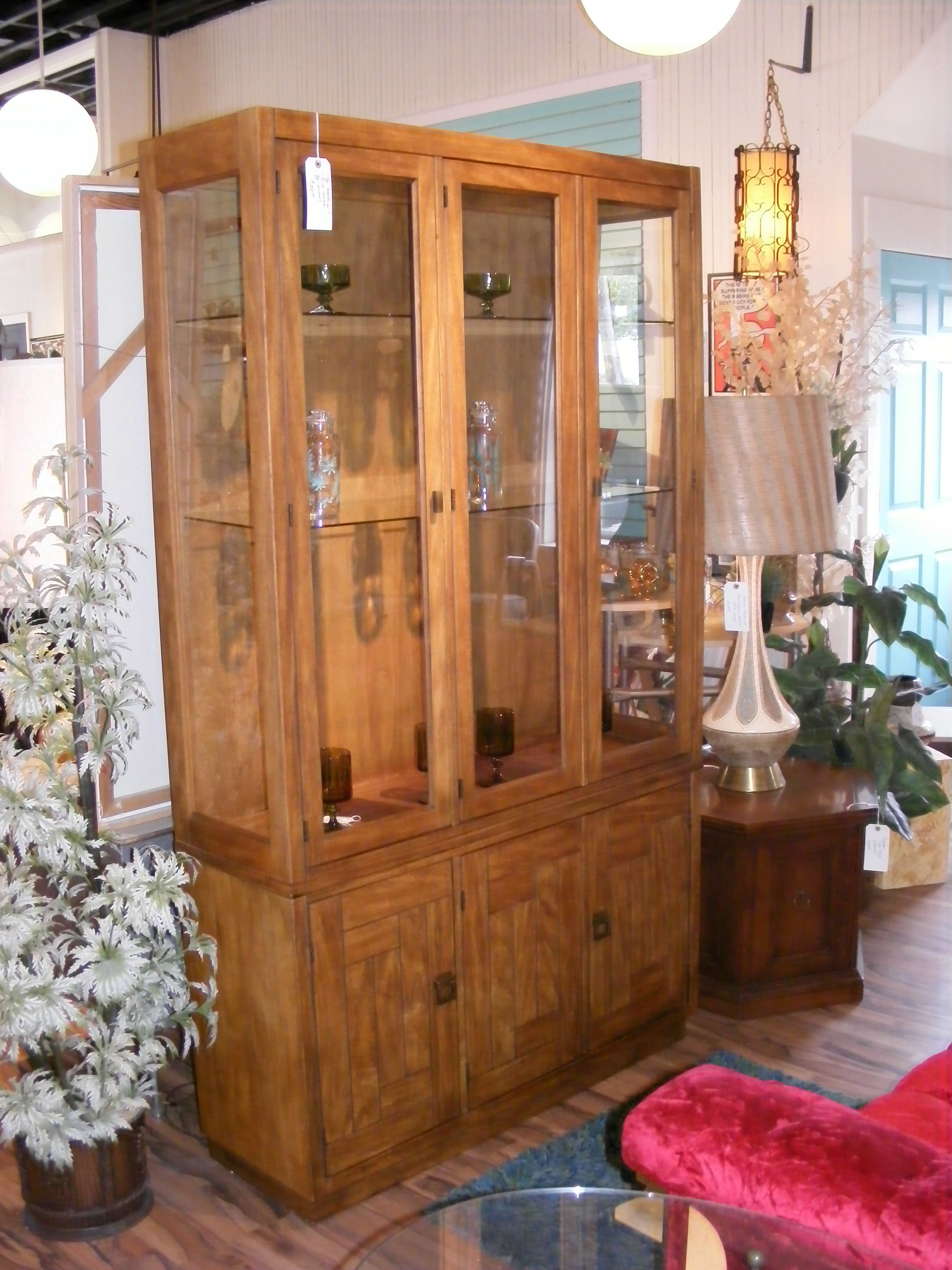 Sleek china hutch by drexel heritage u at retro kalamazoo living