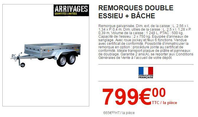 Le Nouveau Catalogue Brico Depot Est Arrive Bache Remorque Depot Catalogue