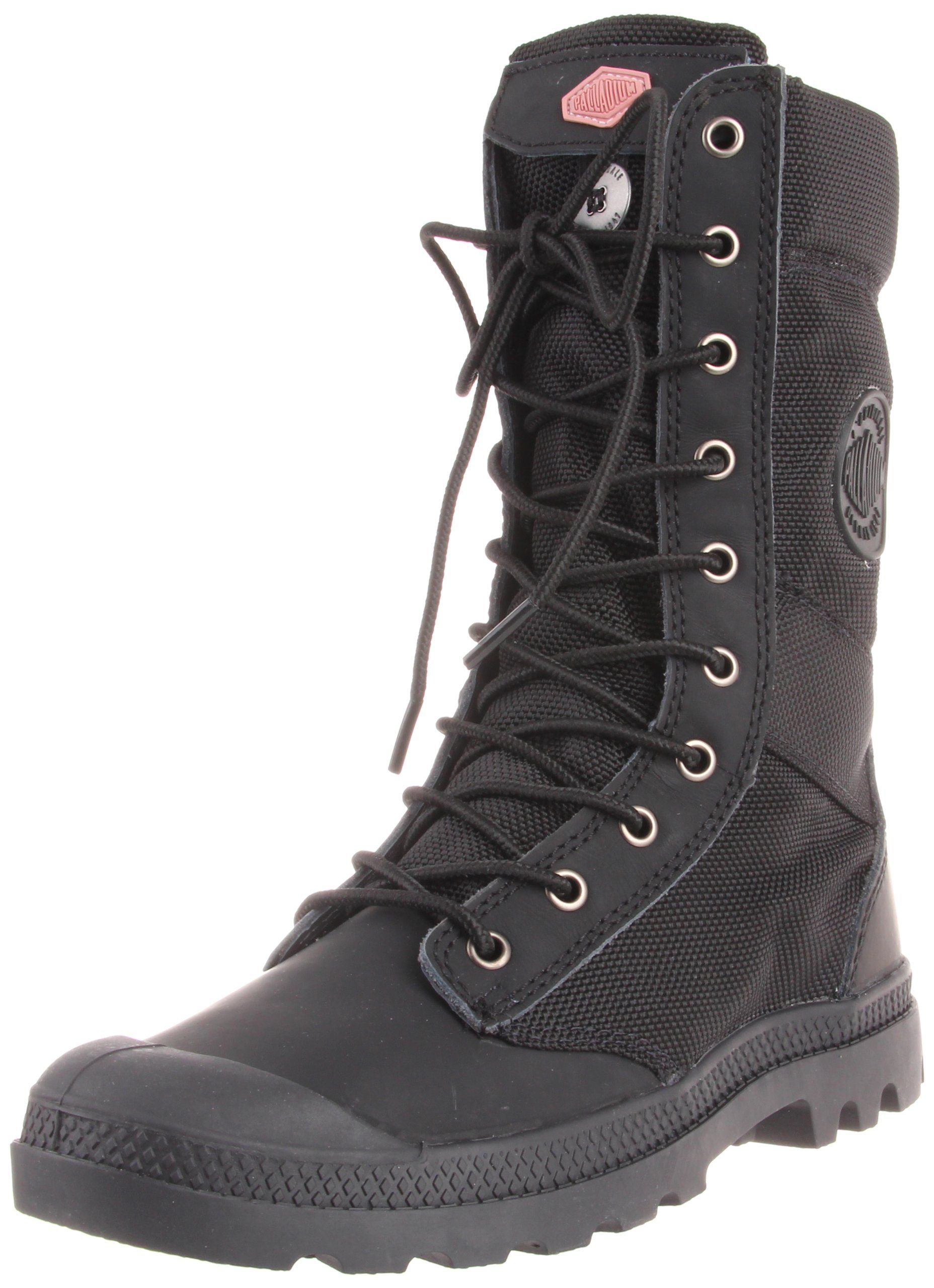 df2d6fe90cd Amazon.com: Palladium Women's Pampa Tactical Boot,Black/Old Rose,8.5 ...