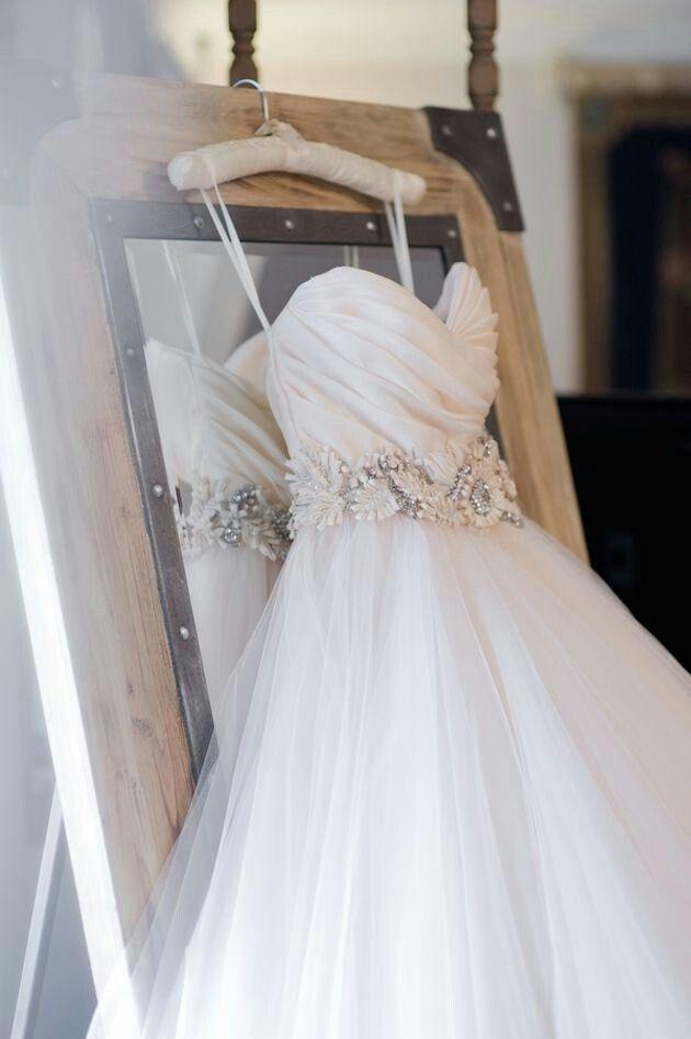 Blush Lazaro Princess Wedding Dress