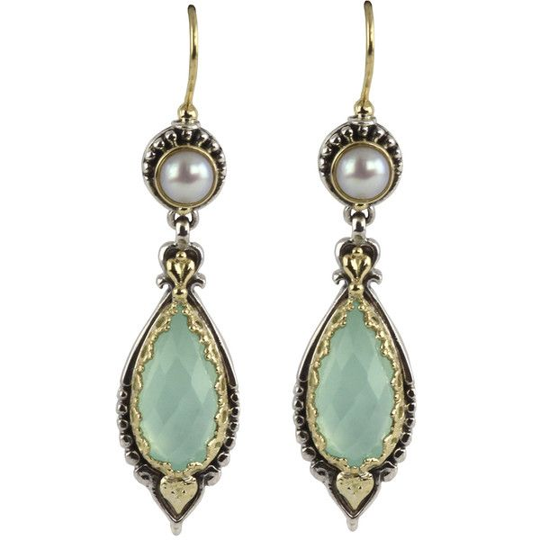 Women's Silver Earring by Konstantino Sea Blue Agate pearl Earrings (€845) ❤ liked on Polyvore featuring jewelry, earrings, silver jewellery, konstantino earrings, blue pearl earrings, silver pearl earrings and pearl jewelry