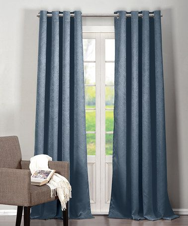 Loving This Slate Blue Quincy Blackout Grommet Curtain Panel Set Of Two On Zulily Zulilyfinds