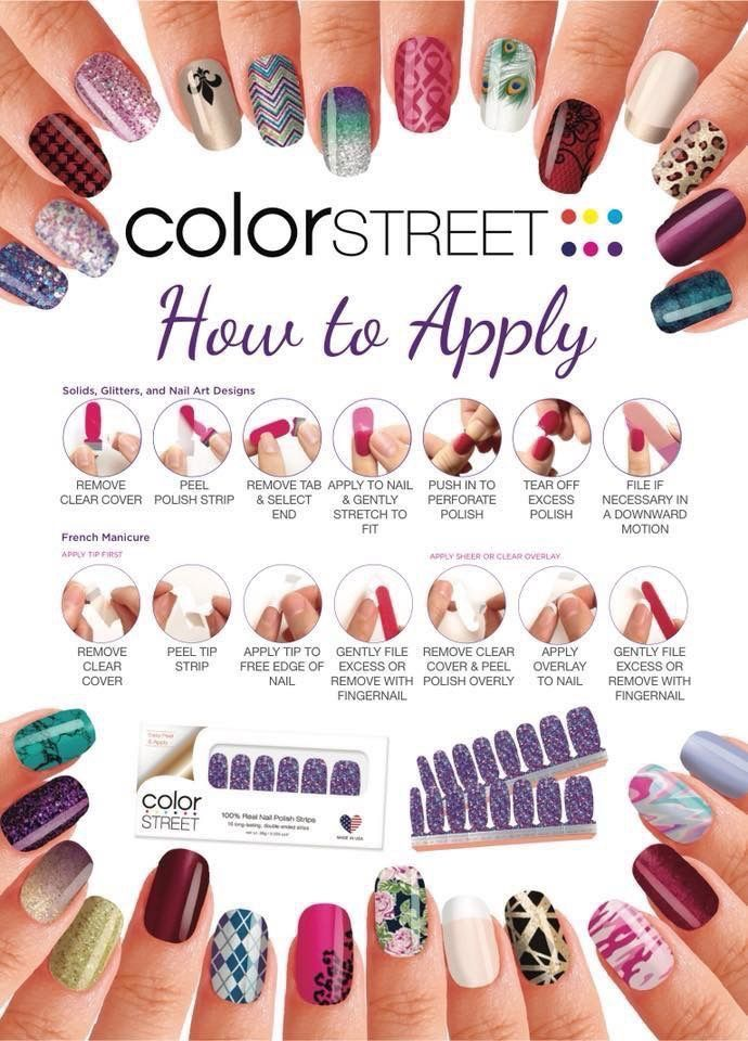 How to apply Color Street | Color street nails, Color ...