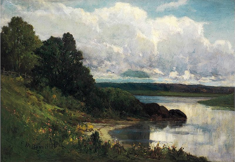 'Palmer River' oil on canvas by Edward Mitchell Bannister, 1885