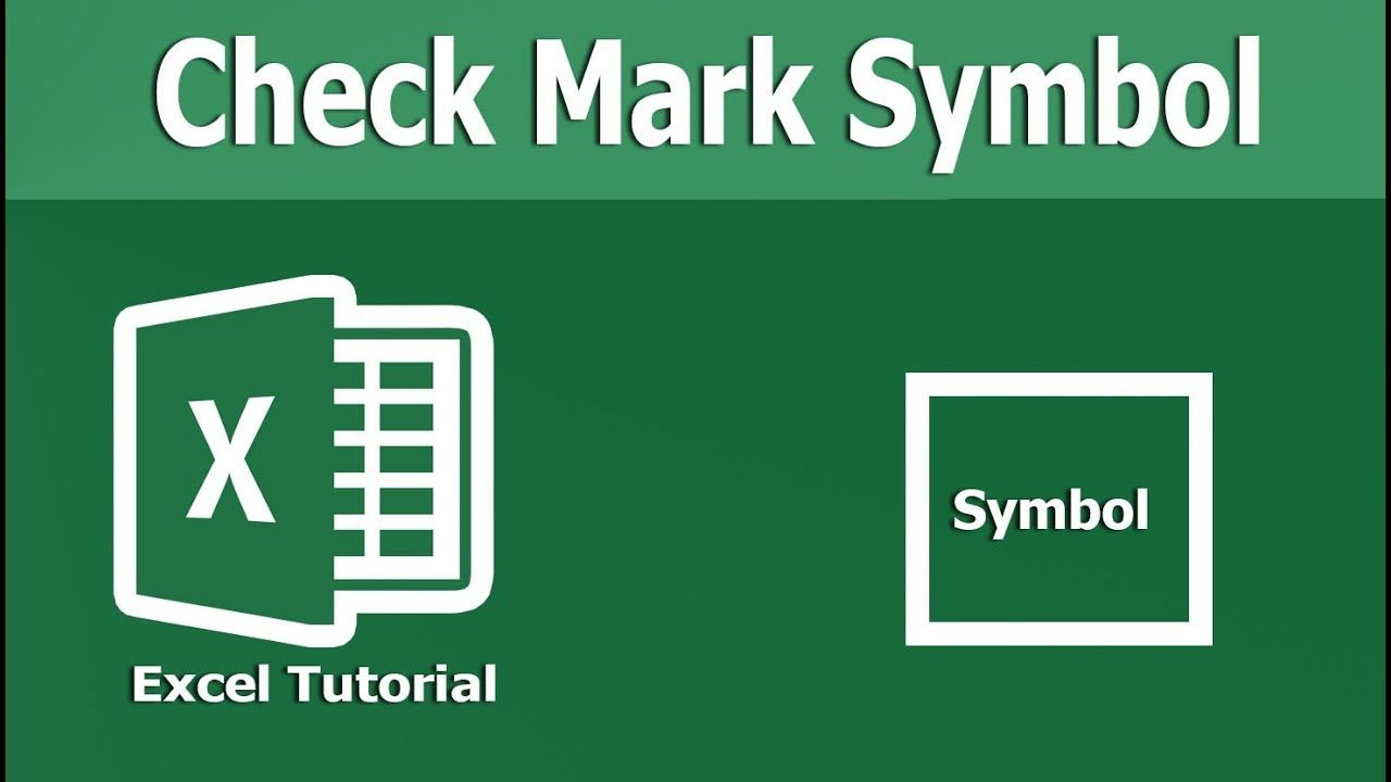 Excel Tutorial How To Add Or Insert Check Mark Symbol In Excel 2018