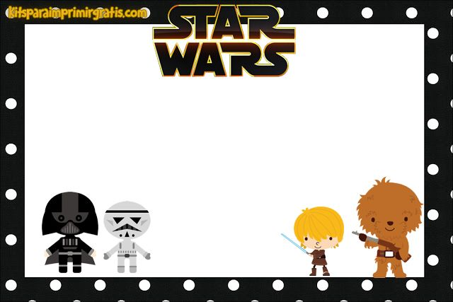 picture relating to Free Printable Star Wars Party Invitations identified as Pin by way of Francheska Solís upon Star Wars recommendations Star wars