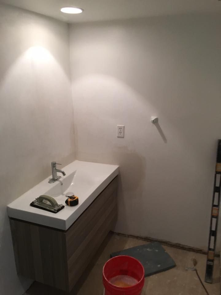 The Start Of A Bathroom Renovation In Coral Gables. Vanity Demo Day!