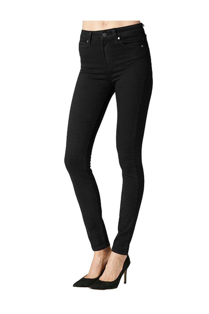 Paige Denim Margot Skinny Jeans Black Shadow