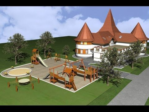 Traditional Romanian design building. Public Kindergarden Oltenia. Nemet...