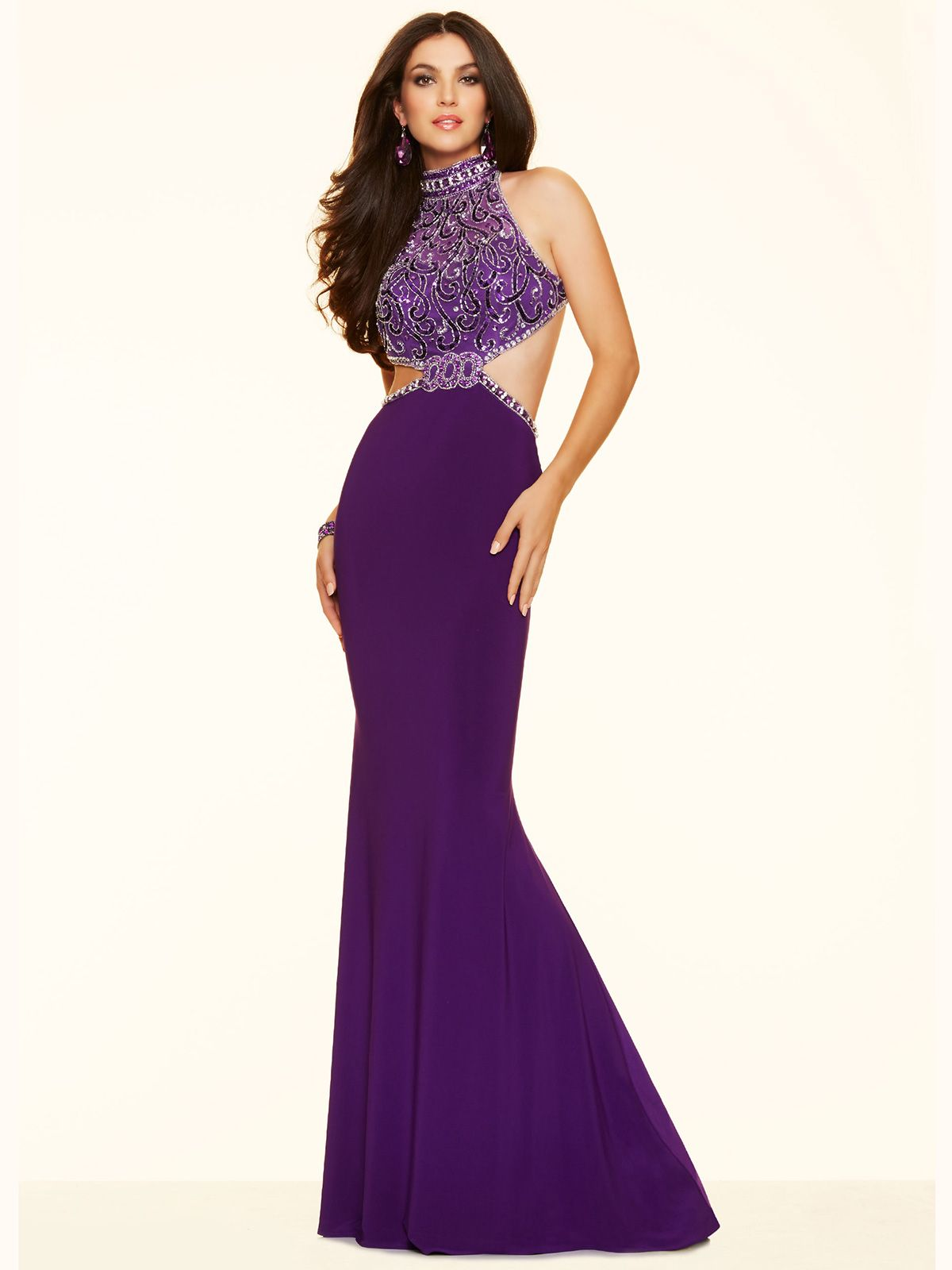 Open back paparazzi prom dress purple dress gown