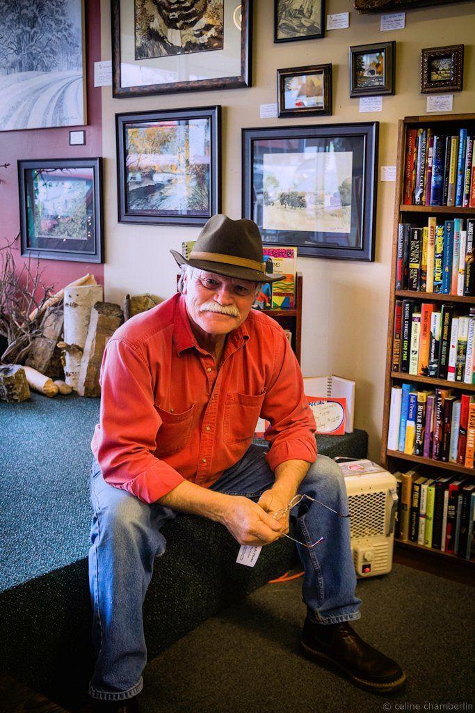 Artist Paul Toews at his Art Gone Wild studio