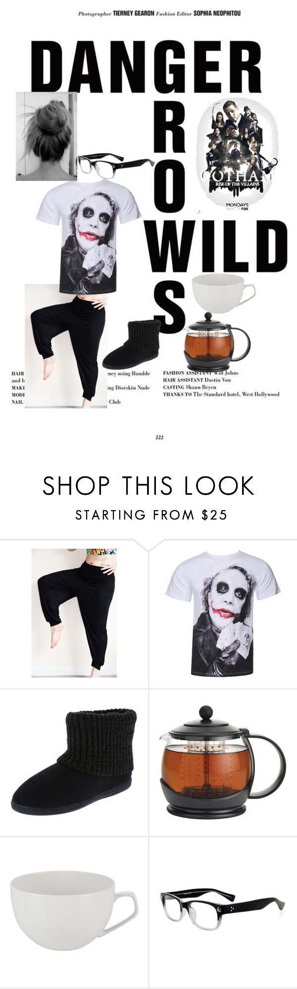 """""""Gotham Season 2 Premiere 9/21/75"""" by kindan3rdy22 ❤ liked on Polyvore featuring BonJour, Rosenthal and GlassesUSA"""