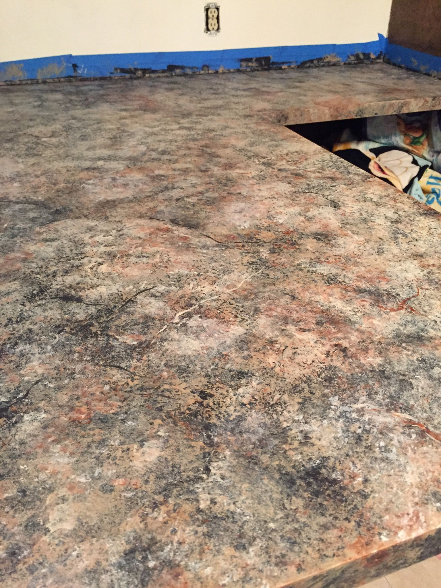 How to paint fake granite countertops