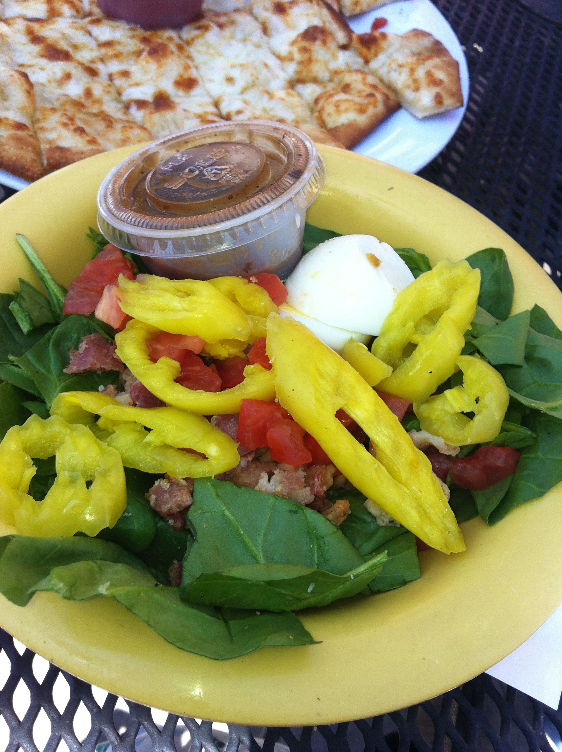 Build your own salad at Solos Pizza Cafe in Eagan, Maple