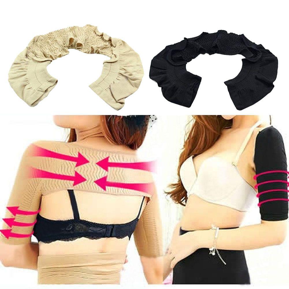 5d7e8375a3 Nude Black Slimmer Women Girl Lady Shoulder Arm Control Shaper Shapewear  Slimmer Girdle Arm Shaper HB88