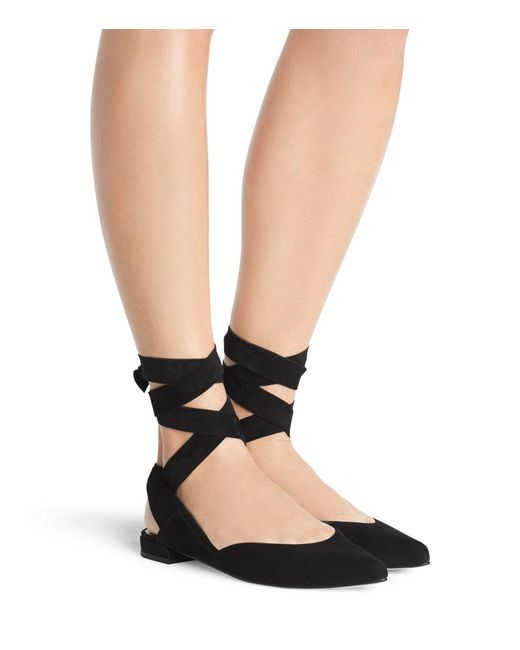 Stuart Weitzman Suede Ankle Flats buy cheap order prices cheap price sale official site BzugGPuWf