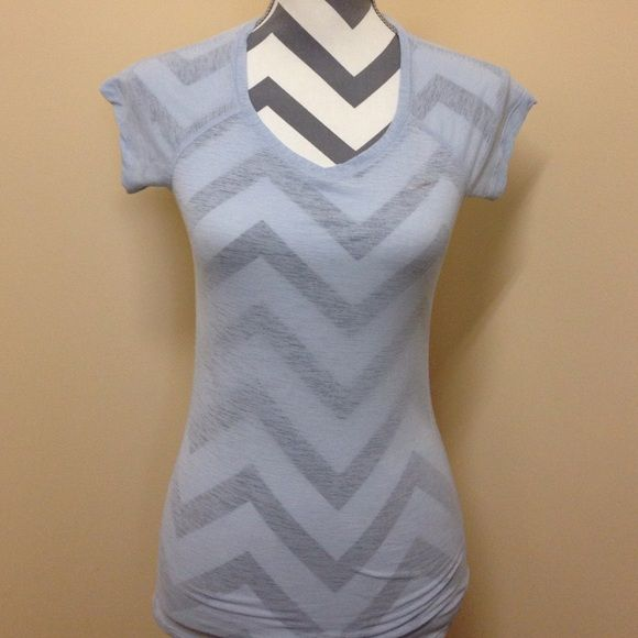 • Nike • Nike Dri-Fit tee. V neck. Powder blue. Excellent condition Nike Tops Tees - Short Sleeve