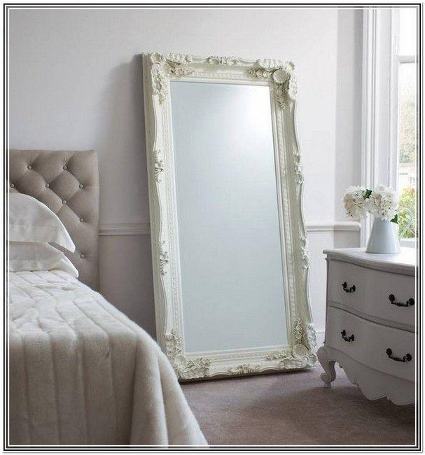 Vintage Standing Mirror Full Length · Large White Vintage Mirror ...