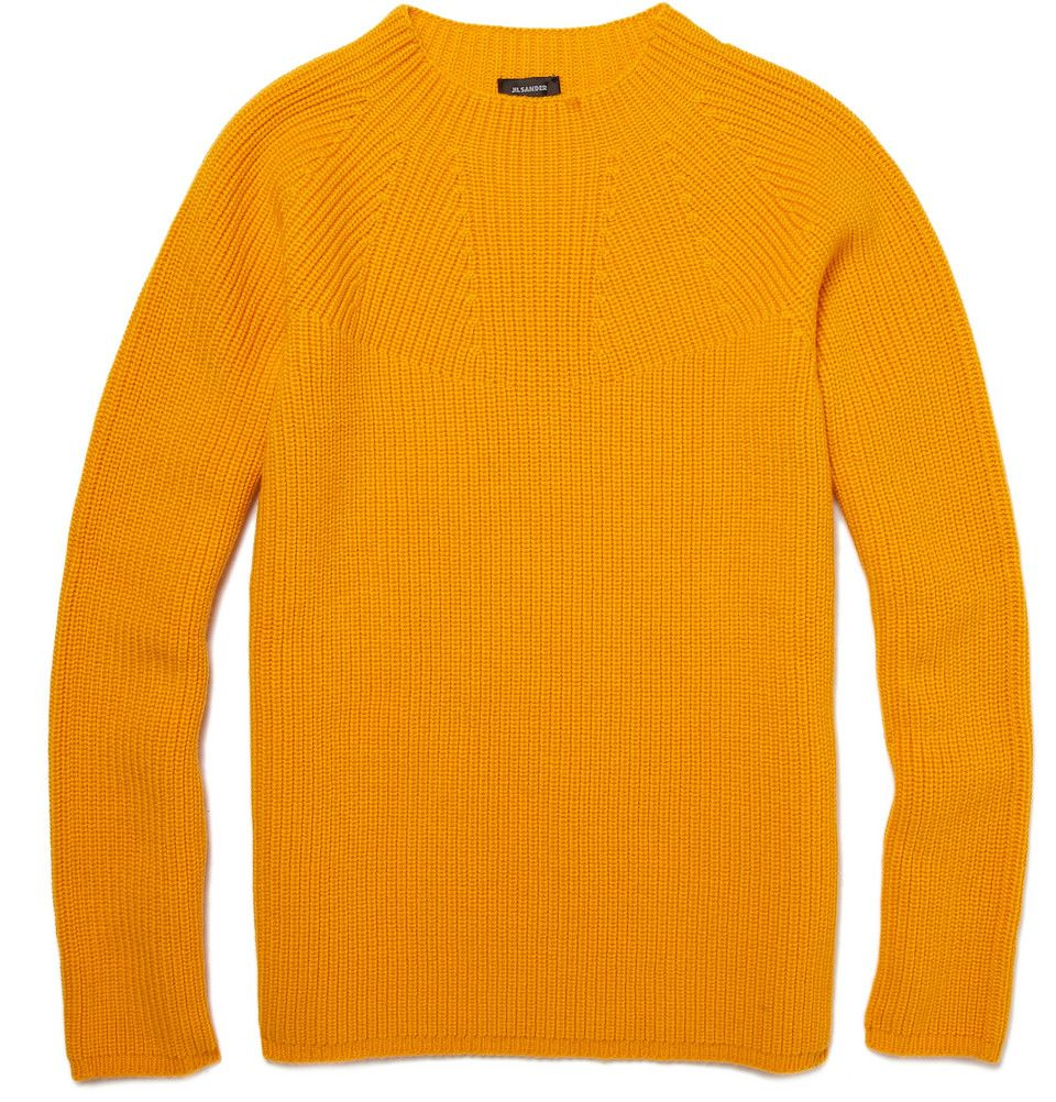 Mustard Ribbed Wool Sweater - told you I was gaga for yellow $280 ...