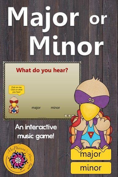 Major or Minor - Interactive Music Game (turkey) | Thanksgiving ...