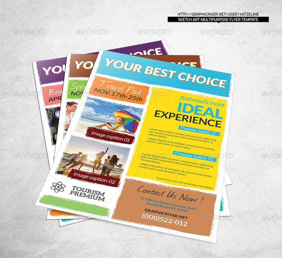 World Travel Tourism Flyer Template | Travel Tourism, Flyer