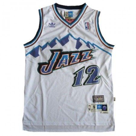 premium selection 72b17 31543 utah jazz 12 john stockton mountain white throwback swingman ...