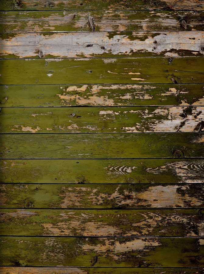 857 Green Weathered Wood Backdrop