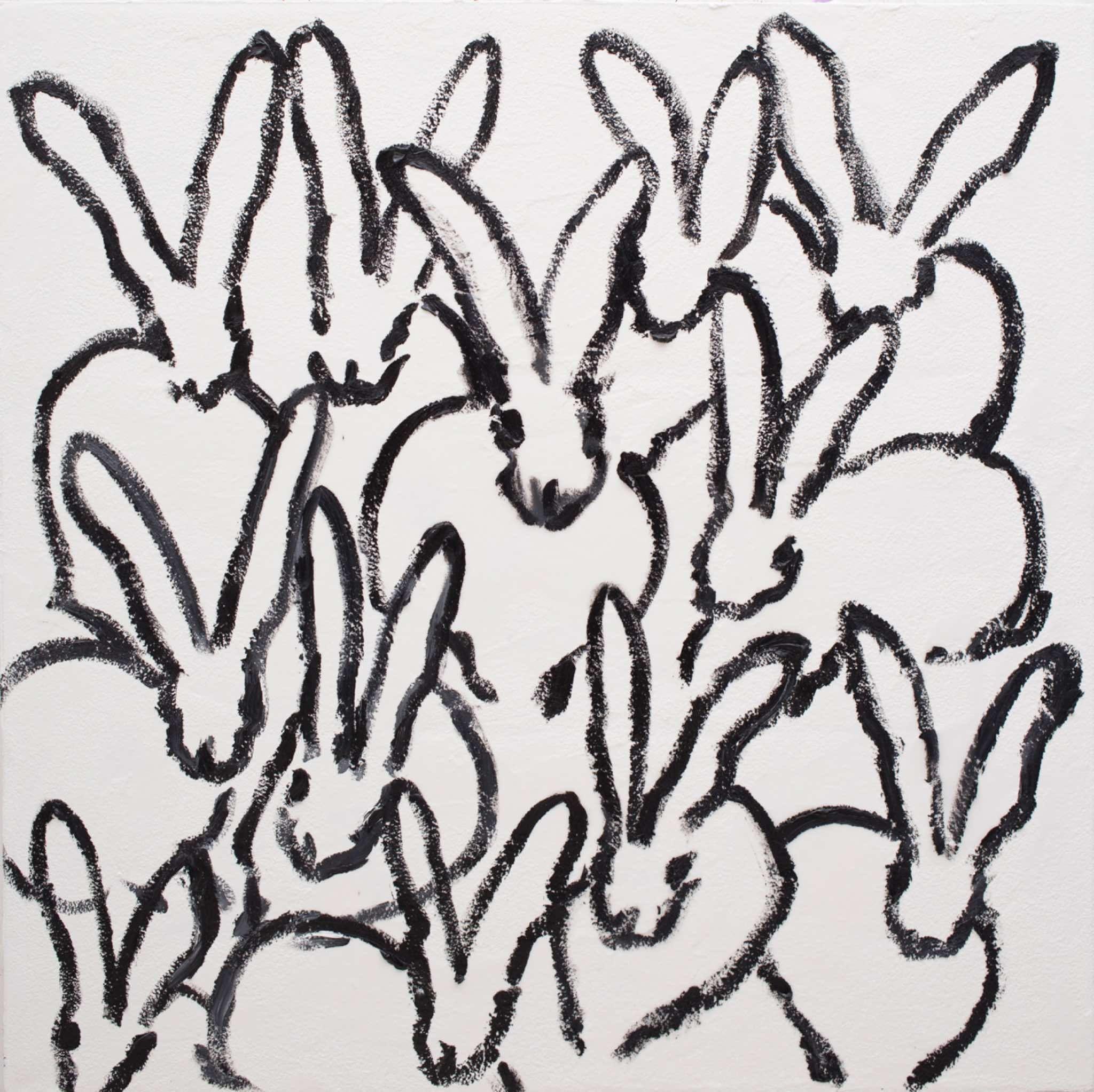 Hunt Slonem creates beautiful paintings of rabbits