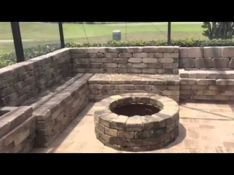 Round Fire Pit, Corner Seating Wall, Planter Boxes, Coping, Drains ...