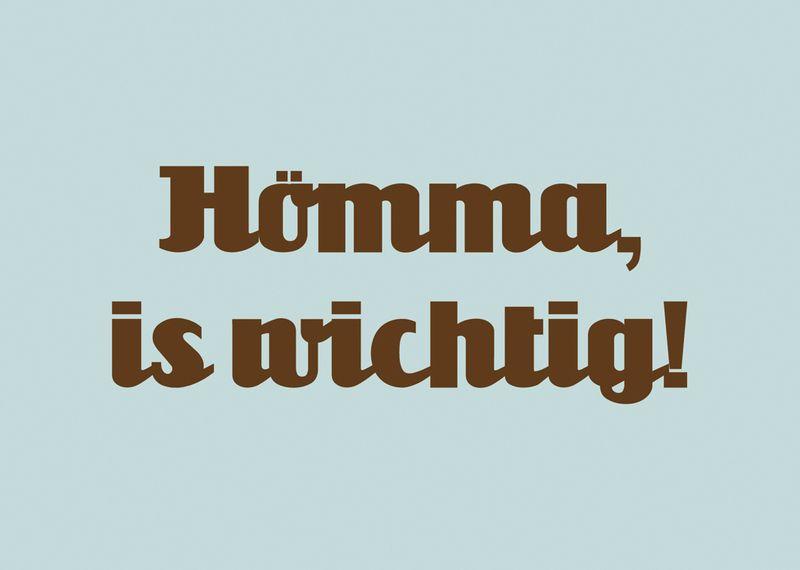 Humor Postkarte Homma Is Wichtig Ein Designerstuck Von