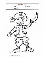 boy in pirate costume color by number - Simple Color Number Printables