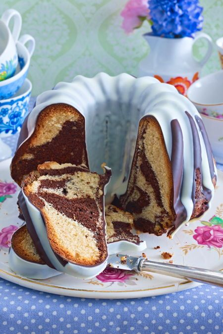 Photo of Marzipan Marble Cake Recipe DELICIOUS