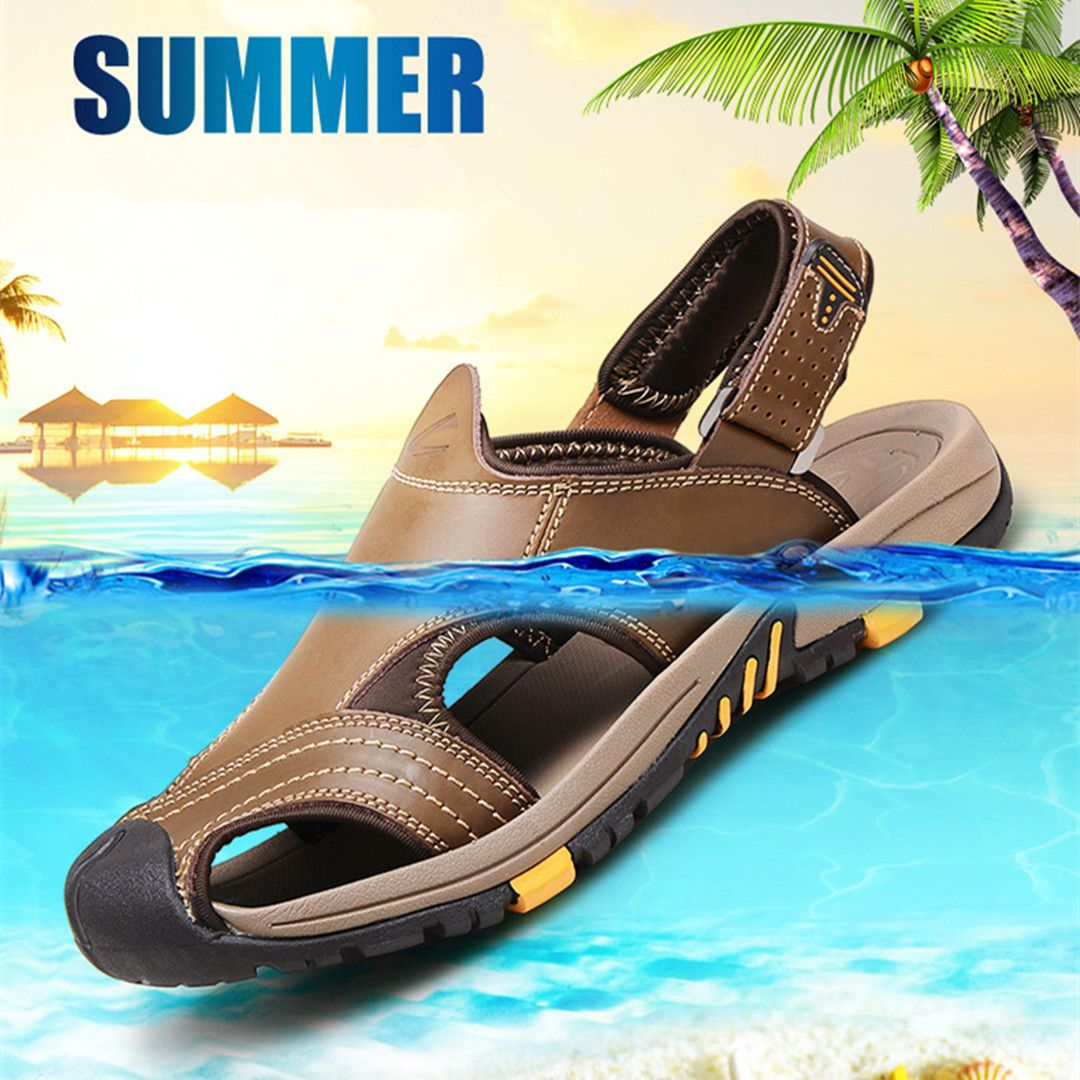 Camel Active Men Outdoors Leather Sandals Beach shoes