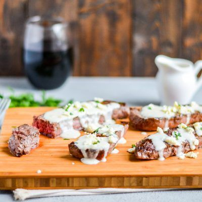 Grilled Sirloin Steaks with Roasted Garlic Gorgonzola ...