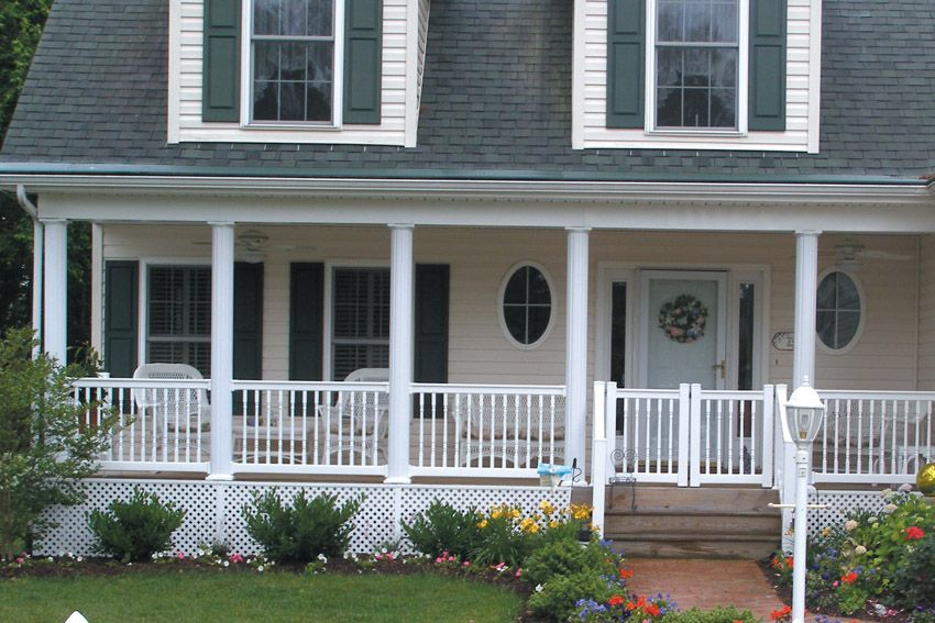 Superior Tapered Round Structural Column Post House Front Porch Front Porch Railings Porch Columns