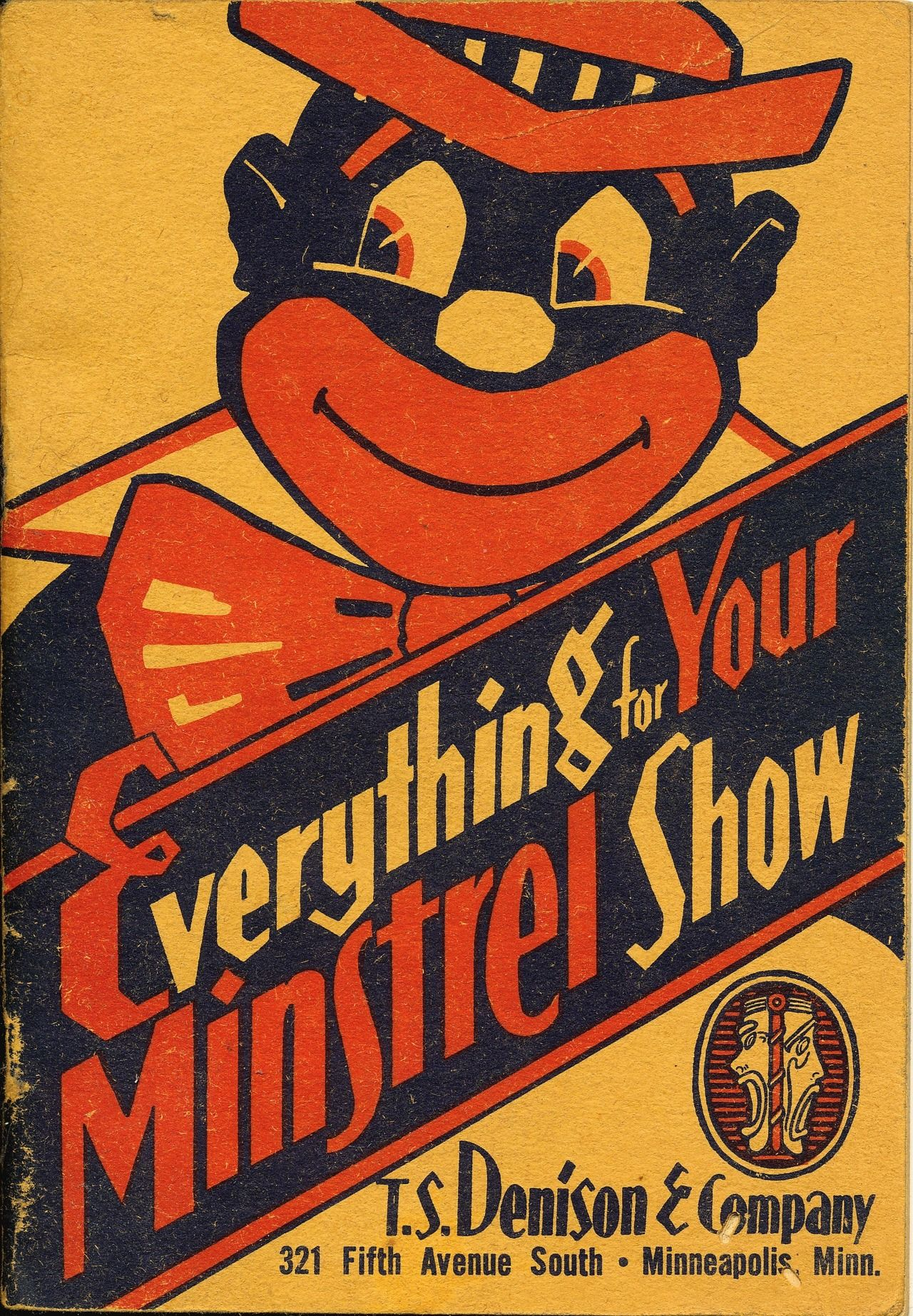 this is an image of a vintage steins minstrel theater black face