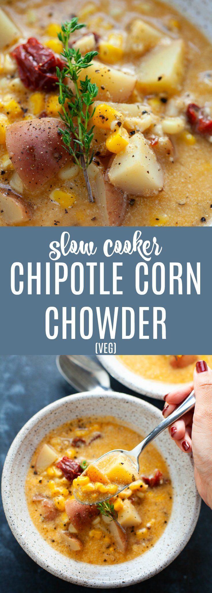 Slow Cooker Chipotle Corn Chowdertakes less than 15 minutes to prepare and packs in a bit of heat for a whole lot of flavor. ...