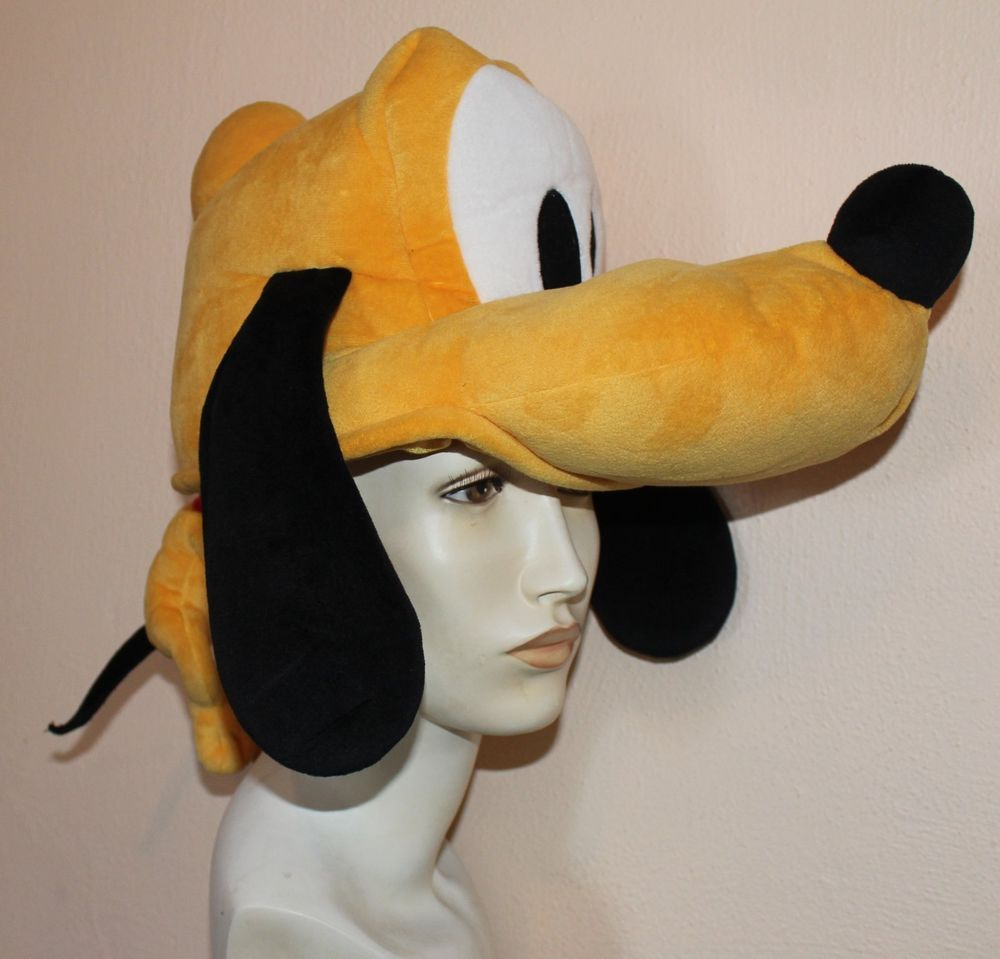 fe9070b4c6d Disney Tokyo Disneyland Hat Pluto Dog Yellow Ears Plush An