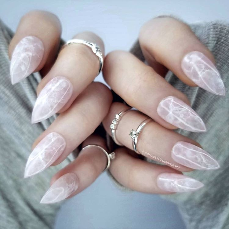 First Comes Amethyst Nails Next Comes Rose Quartz Perfect10customnails Definitely Creating A Perfect 10 De Rose Quartz Nails Quartz Nail Prom Nails